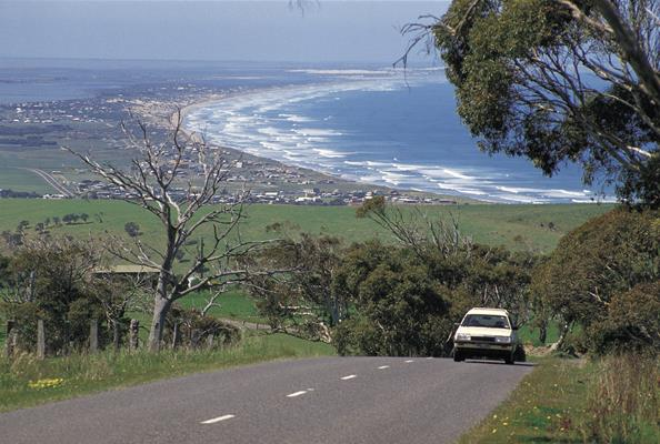 Crows Nest Road Lookout: a great place to visit in Victor Harbor.  Image © SATC; Neale Winter. This photo sponsored by Landscape Gardening Equipment & Supplies Category.