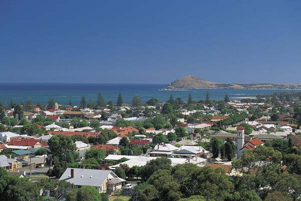 Scenic View of Victor Harbor and the Bluff: a great place to visit in Victor Harbor.  Image © SATC; Adam Bruzzone. This photo sponsored by Plumbers Category.