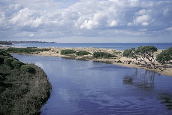 Hindmarsh River Estuary: a great place to visit in Victor Harbor.  Image © SATC; Barry Silkstone. This photo sponsored by Web Design Category.