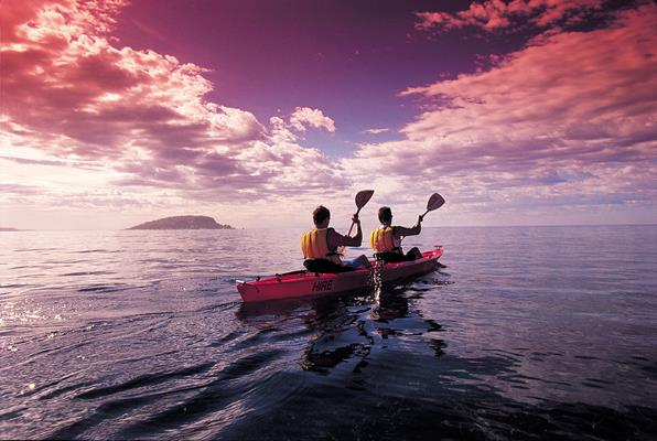 Canoeing: a great place to visit in Victor Harbor.  Image © SATC; Adam Bruzzone. This photo sponsored by Clinics - Dental Category.
