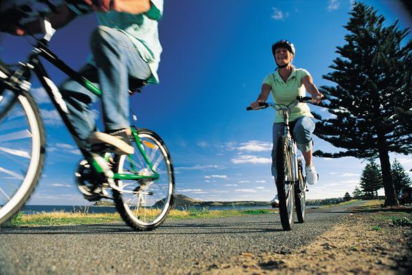 Bike Riding: a great place to visit in Victor Harbor.  Image © SATC; Peter Fisher. This photo sponsored by Aerospace Category.