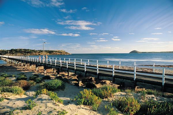 Granite Island Causeway: a great place to visit in Victor Harbor.  Image © SATC; Peter Fisher. This photo sponsored by Furniture - Interior Category.
