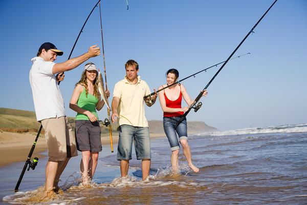 Beach Fishing: a great place to visit in Victor Harbor.  Image © SATC; Peter Fisher. This photo sponsored by Audio-Visual Production Services Category.
