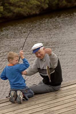 Fishing at Hindmarsh River: a great place to visit in Victor Harbor.  Image © SATC; Adam Bruzzone. This photo sponsored by Home Maintenance &-or Repairs Category.