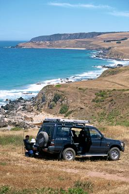 Four Wheel Driving: a great place to visit in Victor Harbor.  Image © SATC; Johnny Kamma. This photo sponsored by Cafes Coffee Lounges & Tea Rooms Category.