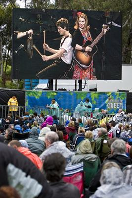 A Day on the Green;  Big Screen: a great place to visit in Victor Harbor.  Image © SATC;  Alex Makeyev. This photo sponsored by Concrete - Decorative Category.