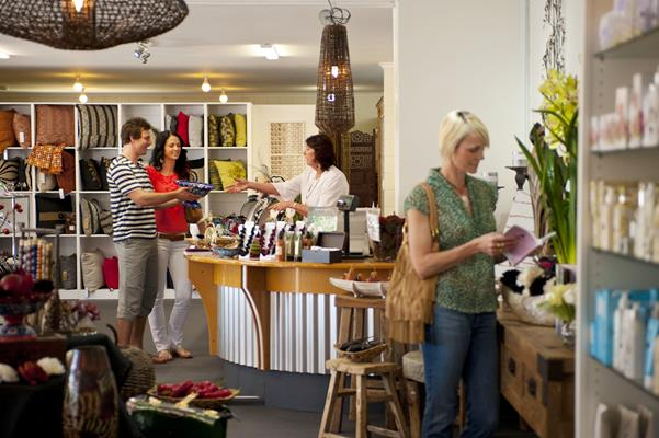 Shopping: a great place to visit in Victor Harbor.  Image © SATC; Mike Annese. This photo sponsored by Concrete Category.